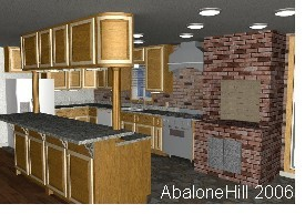 3D Rendering, Kitchen